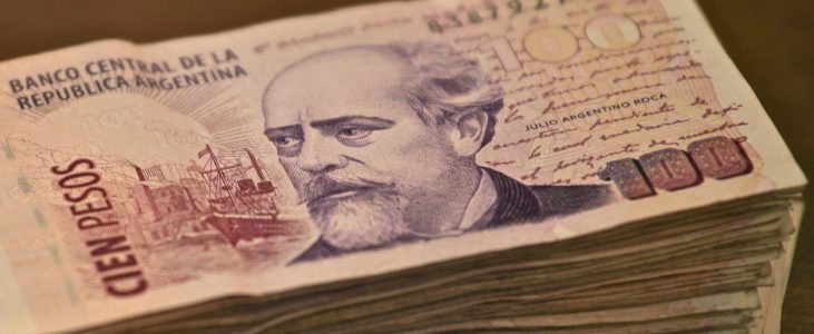 dinheiro na argentina peso argentino