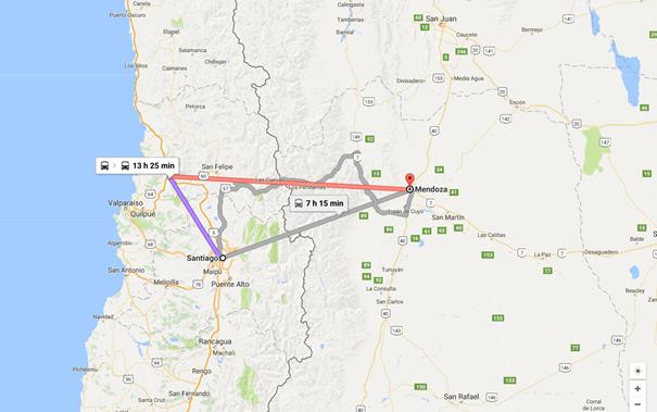 Como Chegar de Onibus Santiago do Chile para Mendoza Argentina