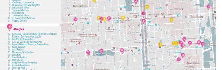Mapa de Buenos Aires por Brasileiros na Argentina
